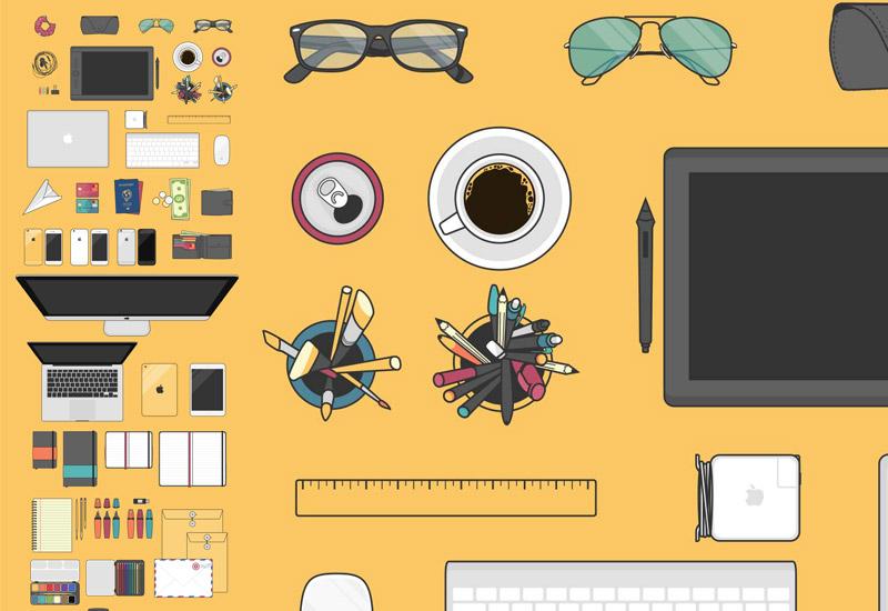 Descarga Set de Elementos de Diseño en Vectores Planos