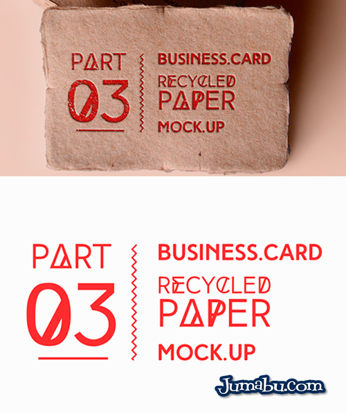 Mock Up de Tarjetas Personales con Material Reciclado