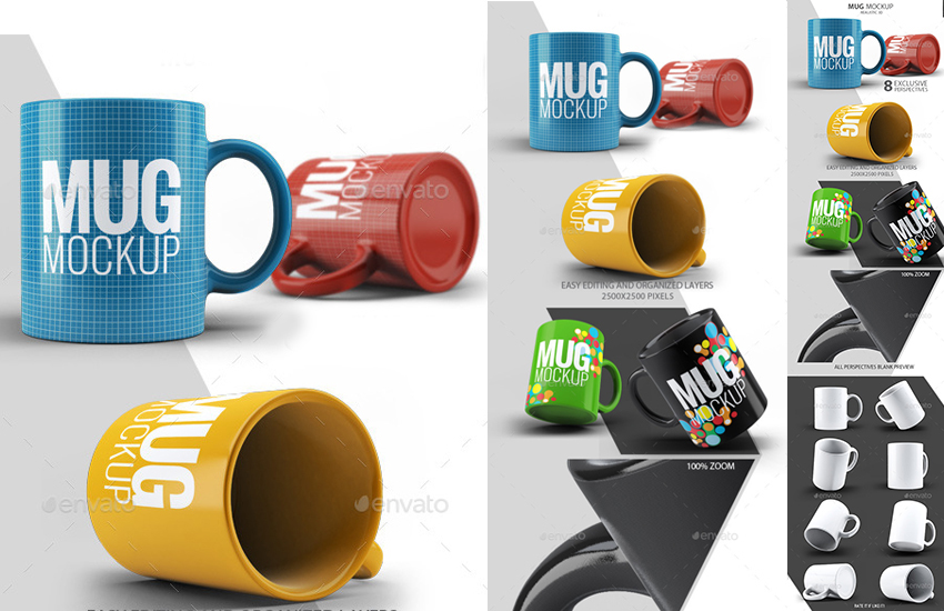 Template de Tazas de Café para Colorear con Photoshop