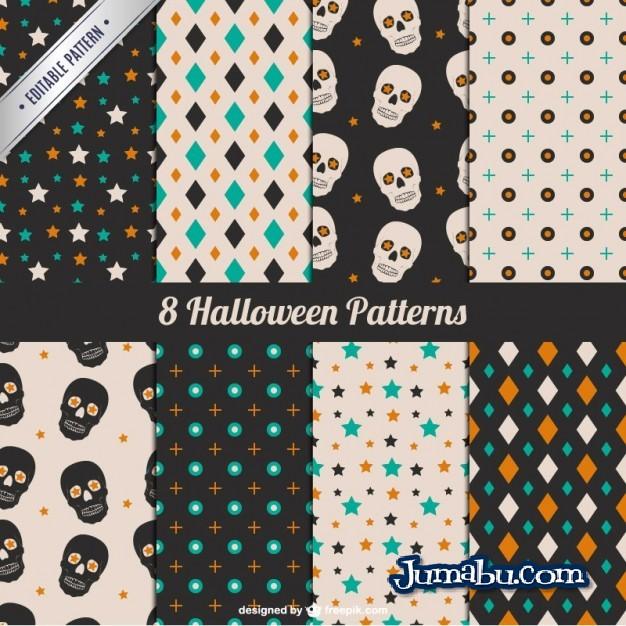 Texturas en Vectores Gratis para Halloween