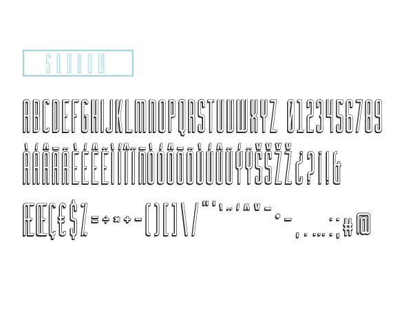 Tipografía Geométrica con Sombra Incorporada