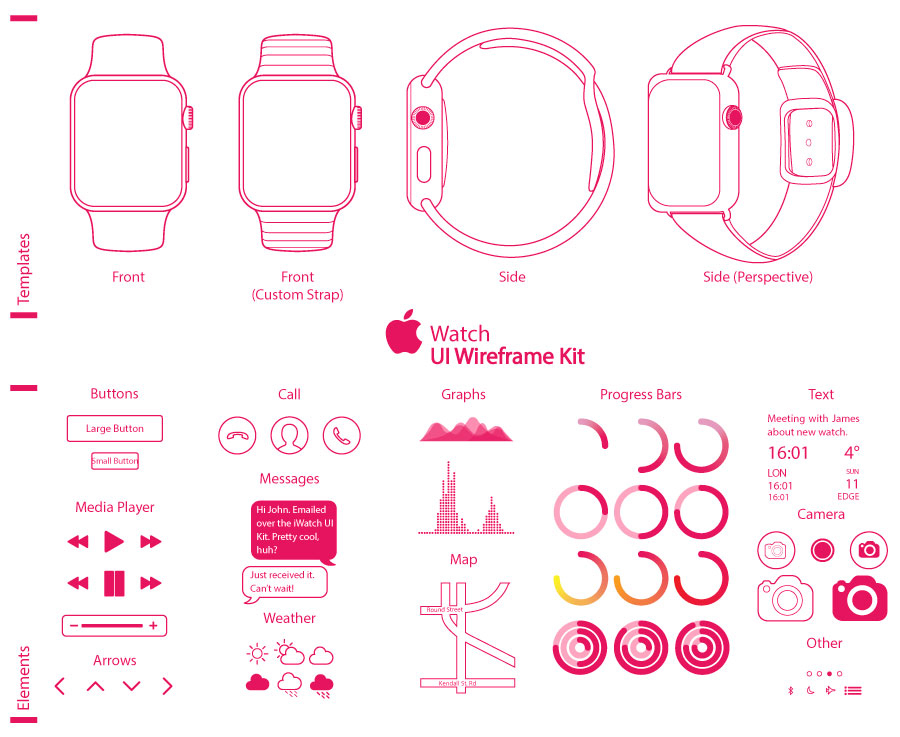 Vectores del Apple Watch