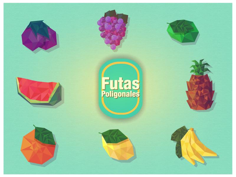 Frutas en Vectores Poligonales para Descargar