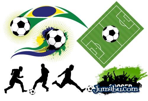 Vectores Fútbol Brasil 2014
