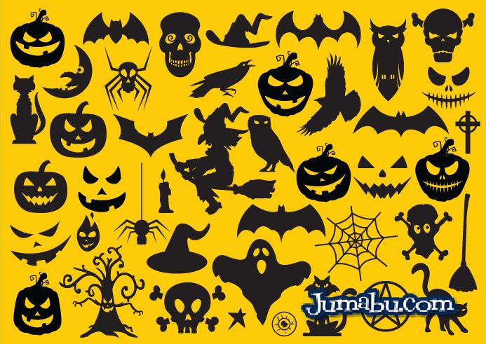 Iconos Planos Vectoriales para Halloween