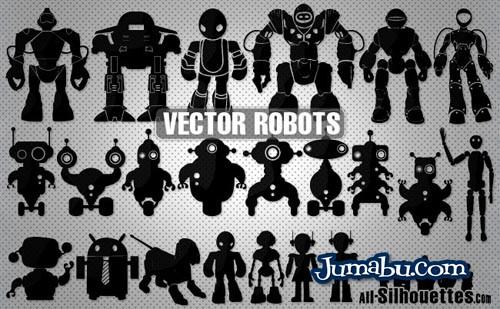 Robots Vectorizados para Descargar
