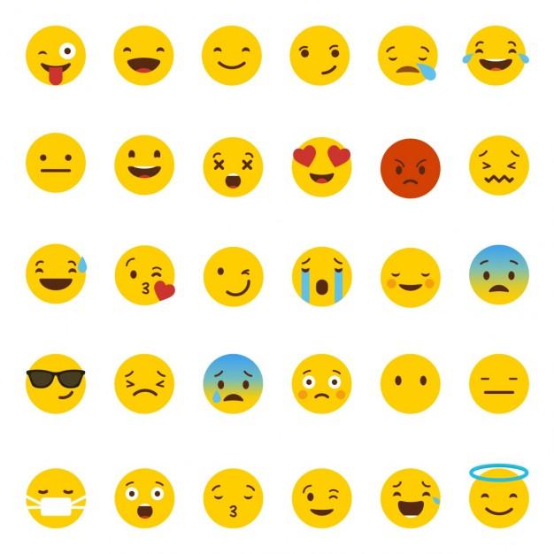 Emoticones de Whatsapp en vectores para descargar