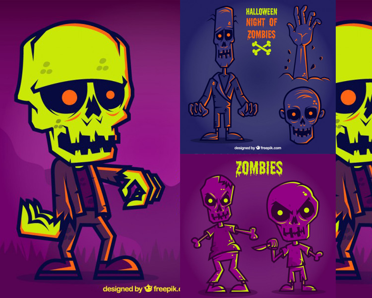 Zombies en Vectores para Halloween 2015